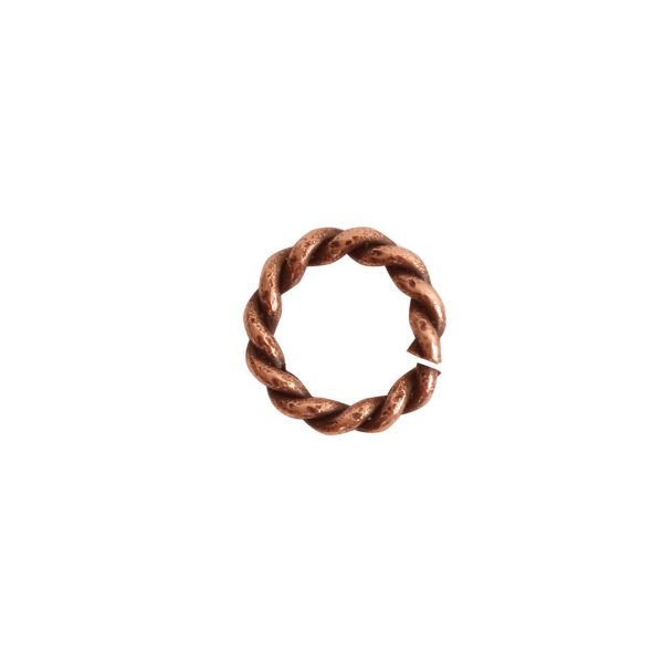 Jumpring Mini RopeAntique Copper