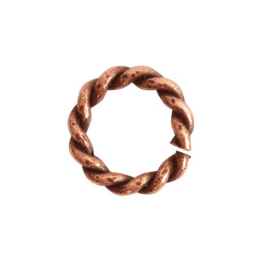Jumpring Mini Rope<br>Antique Copper 1