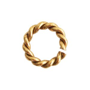 Jumpring Mini RopeAntique Gold