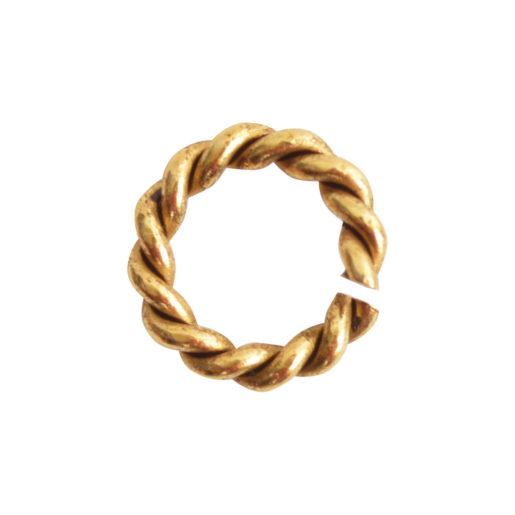 Jumpring Mini Rope<br>Antique Gold 1