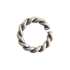 Jumpring Mini RopeAntique Silver