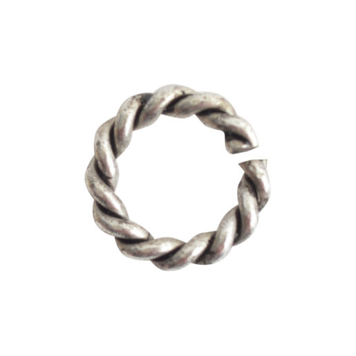Jumpring Mini Rope<br>Antique Silver 1