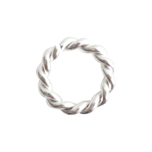 Jumpring Mini RopeSterling Silver Plate
