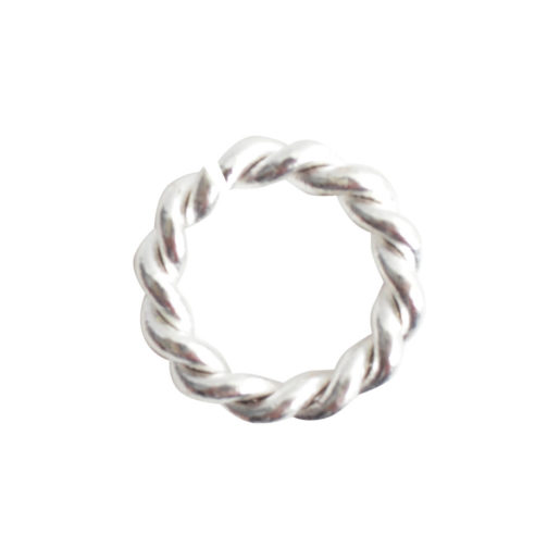 Jumpring Mini Rope<br>Sterling Silver Plate 1