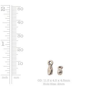 Metal Bead Faceted Drop Itsy Single Loop<br>Antique Silver