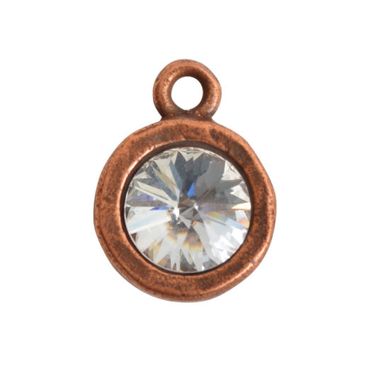 Open Back Bezel Circle 8mm Single Loop<br>Antique Copper 1