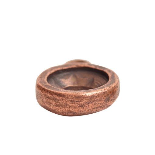 Open Back Bezel Circle 8mm Single LoopAntique Copper
