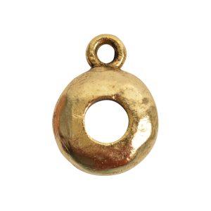 Open Back Bezel Circle 8mm Single Loop<br>Antique Gold