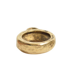 Open Back Bezel Circle 8mm Single LoopAntique Gold