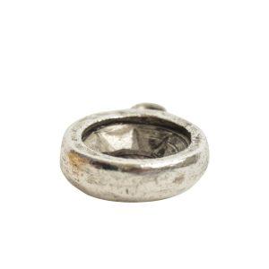Open Back Bezel Circle 8mm Single Loop<br>Antique Silver