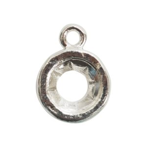 Open Back Bezel Circle 8mm Single LoopSterling Silver