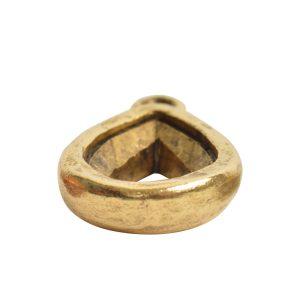 Open Back Bezel Pear 14mm Single Loop<br>Antique Gold