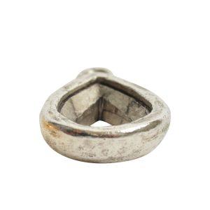 Open Back Bezel Pear 14mm Single Loop<br>Antique Silver