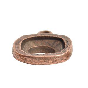 Open Back Bezel Square 12mm Single LoopAntique Copper