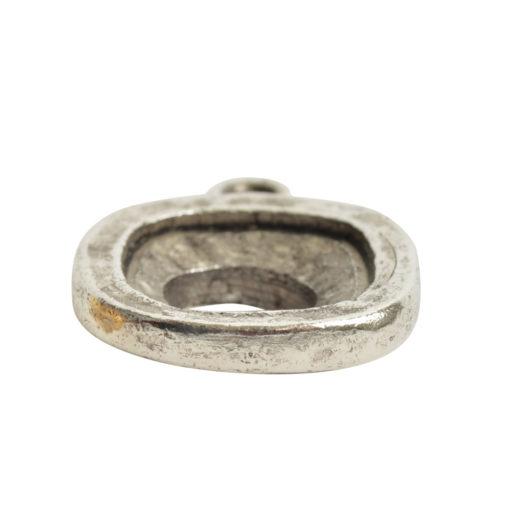 Open Back Bezel Square 12mm Single LoopAntique Silver