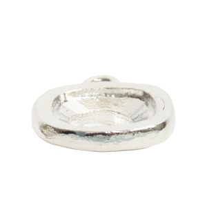 Open Back Bezel Square 12mm Single LoopSterling Silver