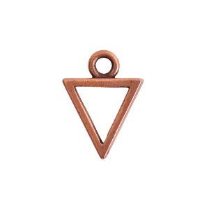 Open Pendant Triangle Mini Single Loop<br>Antique Copper