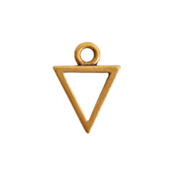 Open Pendant Triangle Mini Single LoopAntique Gold