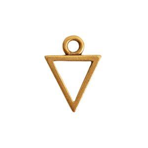 Open Pendant Triangle Mini Single LoopAntique Gold