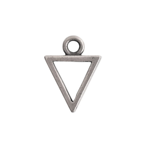 Open Pendant Triangle Mini Single Loop<br>Antique Silver 1
