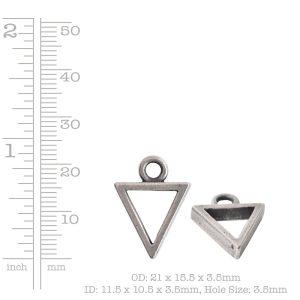 Open Pendant Triangle Mini Single Loop