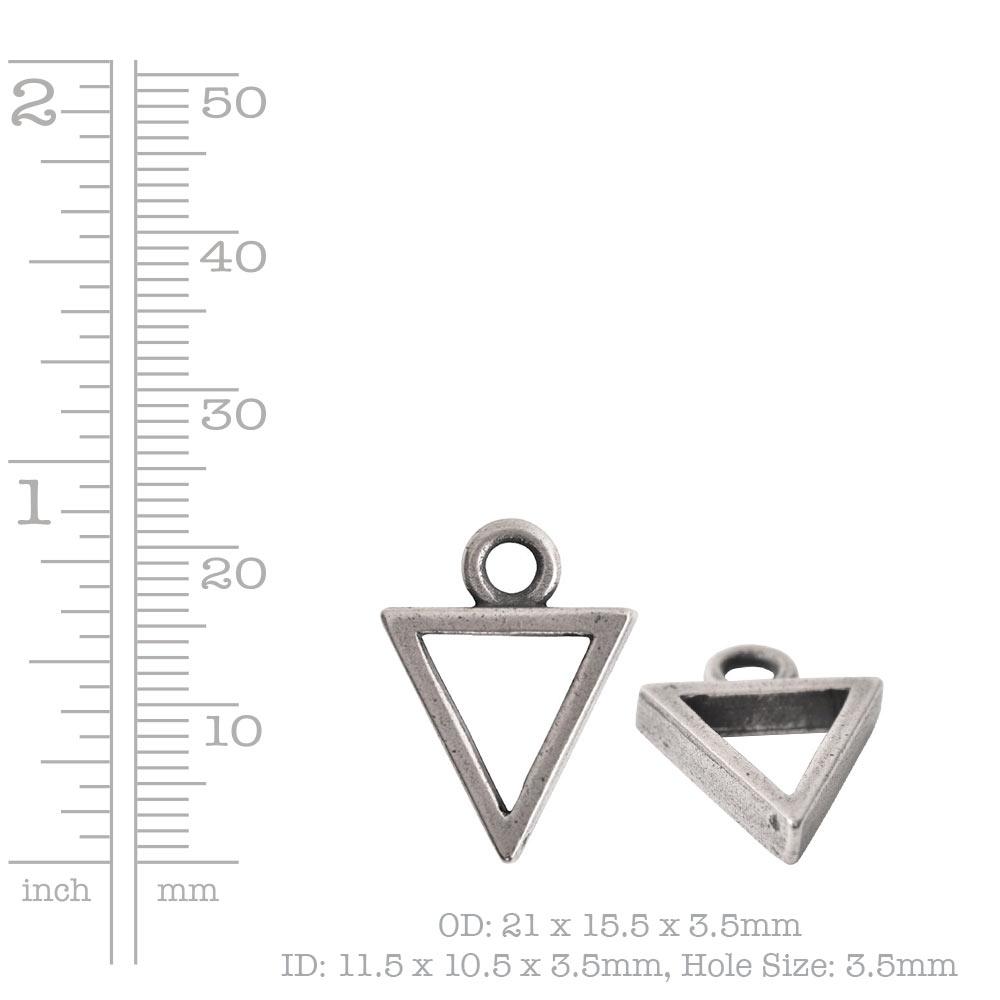 Open Pendant Triangle Mini Single LoopAntique Copper
