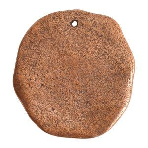 Organic Tag Circle Grande Single Hole<br>Antique Copper