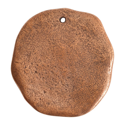 Organic Tag Circle Grande Single Hole<br>Antique Copper 1