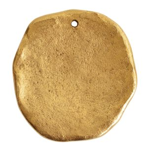 Organic Tag Circle Grande Single Hole<br>Antique Gold