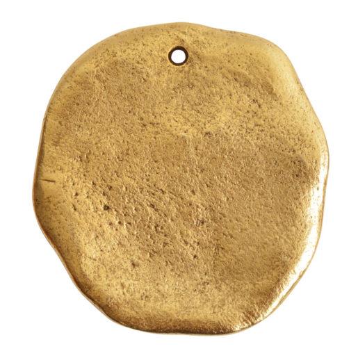 Organic Tag Circle Grande Single Hole<br>Antique Gold 1
