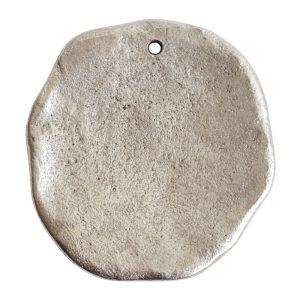 Organic Tag Circle Grande Single Hole<br>Antique Silver