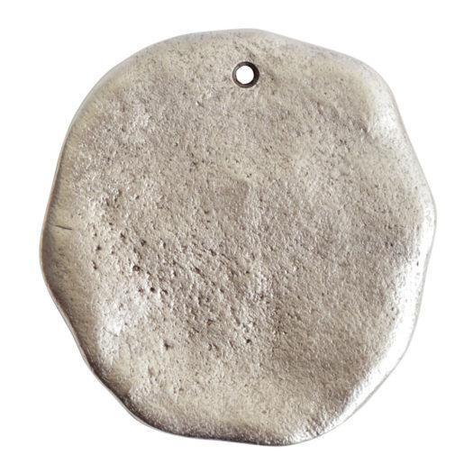 Organic Tag Circle Grande Single Hole<br>Antique Silver 1
