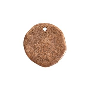 Organic Tag Circle Large Single HoleAntique Copper