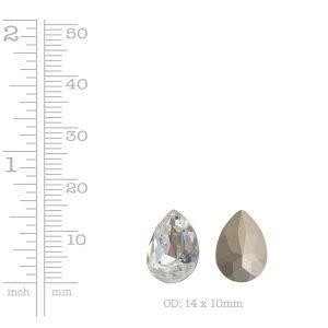 Preciosa Crystals 14mm Pear<br>Crystal