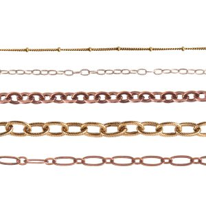 Plated Brass Chain by the Spool