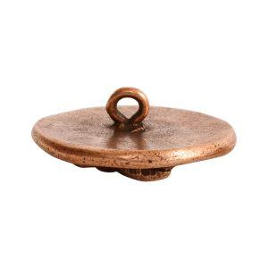 Button Organic Lotus Round SmallAntique Copper
