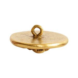Button Organic Lotus Round SmallAntique Gold