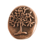 Button Organic Tree of Life Round SmallAntique Copper
