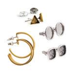 Brass Post Earrings