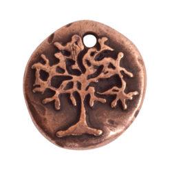 Charm Organic Tree of Life Round SmallAntique Copper