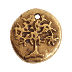 Charm Organic Tree of Life Round SmallAntique Gold