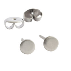 Earring Stud Sterling Silver 3mm Circle