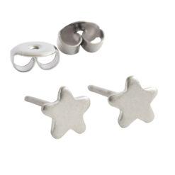 Earring Stud Sterling Silver 4mm Star