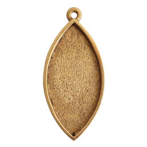 Grande Pendant Navette Single Loop<br>Antique Gold 1