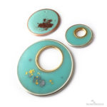 Colorized Resin in Open Hoops with Mica Powders and Flakes