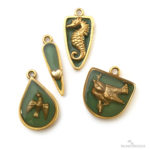 Brass Stampings - Colorized Resin, Open Back Bezels