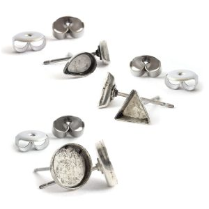 B&T Earring Post Bitsy ComboAntique Silver