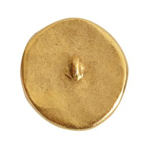Button Organic Small Round BeeAntique Gold