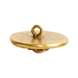 Button Organic Small Round Bee<br>Antique Gold