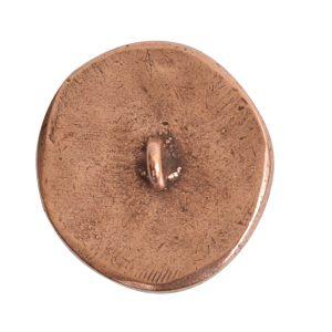 Button Organic Small Round Crossed ArrowsAntique Copper